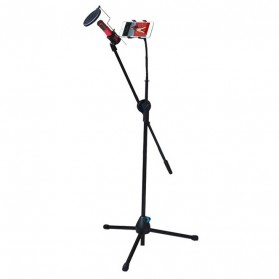 Microphone Standing Holder Tripod with Smartphone Holder - NB-02 - Black