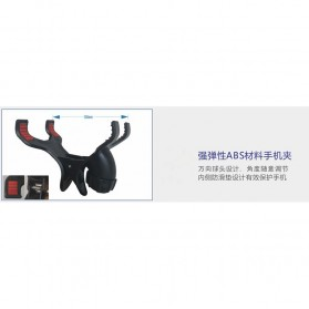 TaffSTUDIO Microphone Standing Holder Tripod with 3 x Smartphone Holder - NB-04P - Black - 3