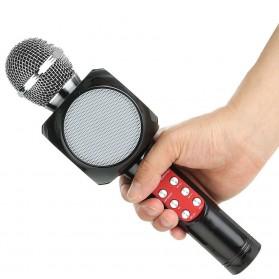 Wireless Karaoke KTV Mikrofon dan Speaker Bluetooth LED - WS1816 - Black - 2