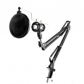 Condenser Microphone Stand Holder Lazypod Professional Set - NB-35 - Black