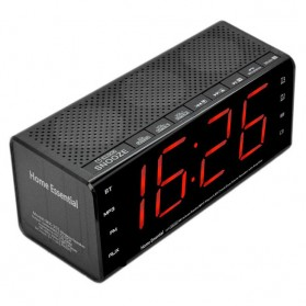 Jam Alarm Wireless Bluetooth Speaker FM Radio Clock - MX-20 - Black