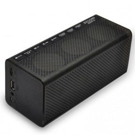 Jam Alarm Wireless Bluetooth Speaker FM Radio Clock - MX-20 - Black - 2
