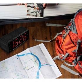 Jam Alarm Wireless Bluetooth Speaker FM Radio Clock - MX-20 - Black - 7