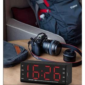 Jam Alarm Wireless Bluetooth Speaker FM Radio Clock - MX-20 - Black - 8