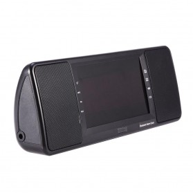 Jam Alarm Wireless Bluetooth Speaker FM Radio with Remote Control - 720B - Black - 8