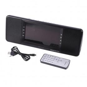 Jam Alarm Wireless Bluetooth Speaker FM Radio with Remote Control - 720B - Black - 9