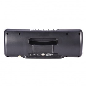 Jam Alarm Wireless Bluetooth Speaker FM Radio with Remote Control - 720B - Black - 10