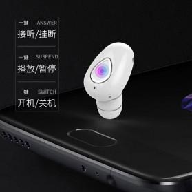 Earphone Bluetooth 4.1 Ultra Mini - YX01 - Black - 6