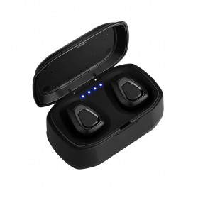 TWS Sport True Wireless Bluetooth Earphone Headset with Charging Case - A7 - Black