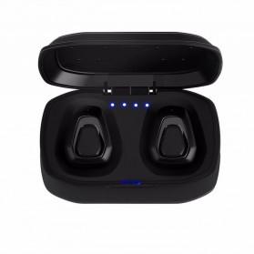 TWS Sport True Wireless Bluetooth Earphone Headset with Charging Case - A7 - Black - 2