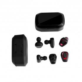 TWS Sport True Wireless Bluetooth Earphone Headset with Charging Case - A7 - Black - 6