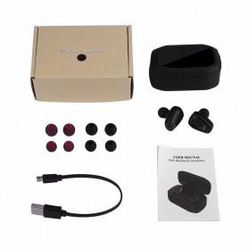 TWS Sport True Wireless Bluetooth Earphone Headset with Charging Case - A7 - Black - 7
