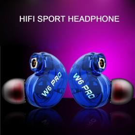 W6 PRO HiFi Sport Earphones Detachable with Mic - Black - 3