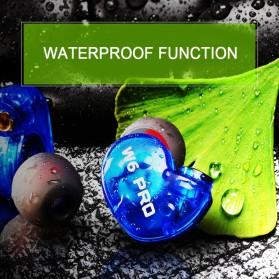 W6 PRO HiFi Sport Earphones Detachable with Mic - Black - 4