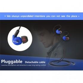 W6 PRO HiFi Sport Earphones Detachable with Mic - Black - 6