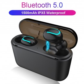HESTIA TWS Sport True Wireless Bluetooth 5.0 Earphone with Charging Dock - HBQ-Q32 - Black