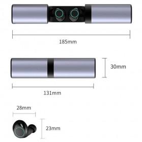 Yulubu TWS Sport True Wireless Bluetooth Earphone Headset with Charging Case - S2 - Gray - 8
