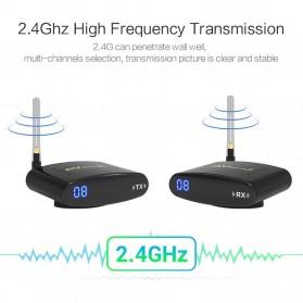 PAKITE RCA AV Sender Audio Video Wireless Transmitter Receiver 2.4GHz 100M - PAT-335 - Black - 2