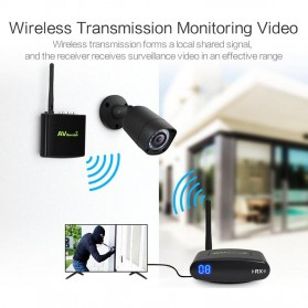 PAKITE RCA AV Sender Audio Video Wireless Transmitter Receiver 2.4GHz 100M - PAT-335 - Black - 3