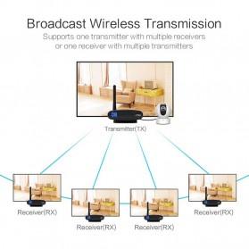 PAKITE RCA AV Sender Audio Video Wireless Transmitter Receiver 2.4GHz 100M - PAT-335 - Black - 5