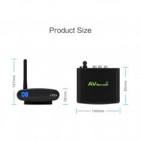 PAKITE RCA AV Sender Audio Video Wireless Transmitter Receiver 2.4GHz 100M - PAT-335 - Black - 8