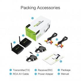 PAKITE RCA AV Sender Audio Video Wireless Transmitter Receiver 2.4GHz 100M - PAT-335 - Black - 9