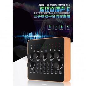 Taffware Audio Bluetooth USB External Soundcard Live Broadcast Microphone Headset with Remote - V10 - Black - 5