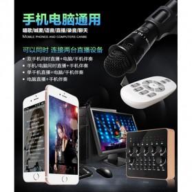 Taffware Audio Bluetooth USB External Soundcard Live Broadcast Microphone Headset with Remote - V10 - Black - 7