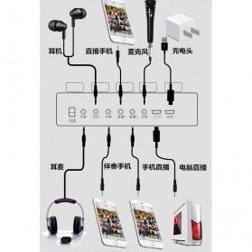 Taffware Audio Bluetooth USB External Soundcard Live Broadcast Microphone Headset with Remote - V10 - Black - 9