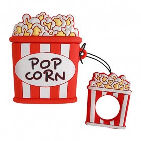 Vozro Cartoon Silicone Case Pop Corn for AirPods 1 & 2 Charging Case with Lanyard - A-EJT - 4