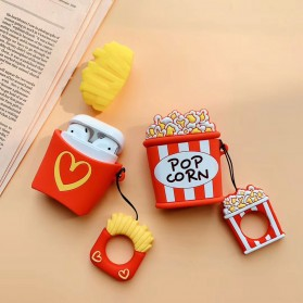 Vozro Cartoon Silicone Case Pop Corn for AirPods 1 & 2 Charging Case with Lanyard - A-EJT - 8