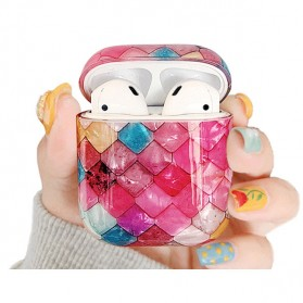Vozro Cartoon Fish Mermaid Skin for AirPods 1 & 2 Earphone Charging Case - A-EJT