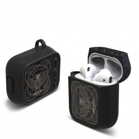 Vozro Cartoon PC Case Owl Bird for AirPods 1 & 2 Charging Case with Carabiner - A-EJT - 2