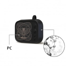 Vozro Cartoon PC Case Owl Bird for AirPods 1 & 2 Charging Case with Carabiner - A-EJT - 4