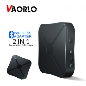 VAORLO 2 in 1 Audio Bluetooth Transmitter & Receiver 3.5mm - KN319 - Black - 1