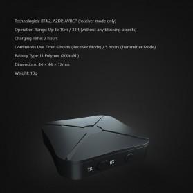 VAORLO 2 in 1 Audio Bluetooth Transmitter & Receiver 3.5mm - KN319 - Black - 3