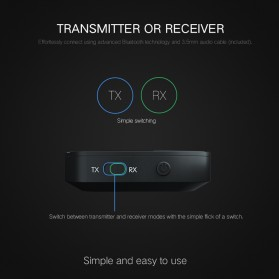 VAORLO 2 in 1 Audio Bluetooth Transmitter & Receiver 3.5mm - KN319 - Black - 4