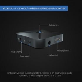 VAORLO 2 in 1 Audio Bluetooth Transmitter & Receiver 3.5mm - KN319 - Black - 5