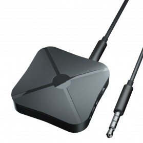 VAORLO 2 in 1 Audio Bluetooth Transmitter & Receiver 3.5mm - KN319 - Black - 6