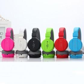 TransitionHD Wireless Headphone Bluetooth 5.0 Radio TF Function with Mic - SH12 - Black - 6