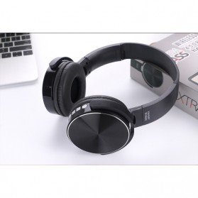 TransitionHD Wireless Headphone Bluetooth Heavy Bass with Mic - XB450BT - Black