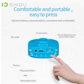 SHIDU Megaphone Mikrofon Penguat Suara Audio Tourguide Speaker 10W - SD-S615 - Black - 3