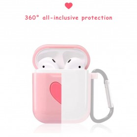 CASPTM Love Silicone Case for AirPods 1 & 2 Charging Case with Carabiner- 43153 - Black - 8