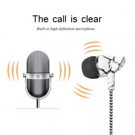LAPU Earphone Headset Earbuds Volume Control + Microphone - LP-T9 - Green - 4