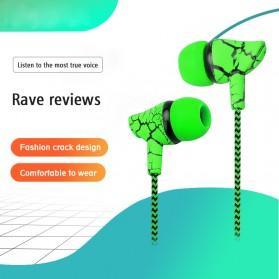 LAPU Earphone Headset Earbuds Volume Control + Microphone - LP-T9 - Green - 5