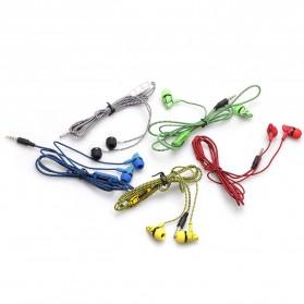 LAPU Earphone Headset Earbuds Volume Control + Microphone - LP-T9 - Green - 9