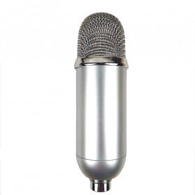 Mikrofon Kondenser Studio dengan Shock Proof Mount - BM-200 - White