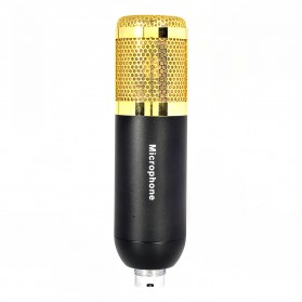 Mikrofon Kondenser Studio dengan Shock Proof Mount - BM-500 - Black Gold