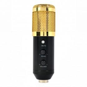 Mikrofon Kondenser Studio dengan Shock Proof Mount - EM-80 - Black Gold