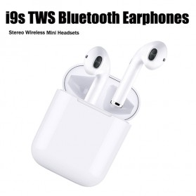 NAIKU TWS Airpods Earphone Bluetooth with Charging Case - i9S - White